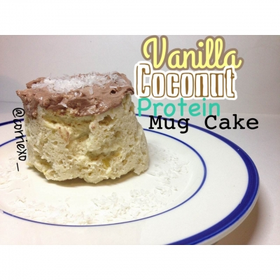 Vanilla Coconut Protein Mug Cake