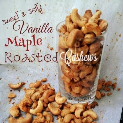 Vanilla Maple Roasted Cashews