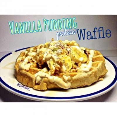Vanilla Pudding Protein Waffle