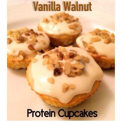 Vanilla Walnut Protein Cupcakes