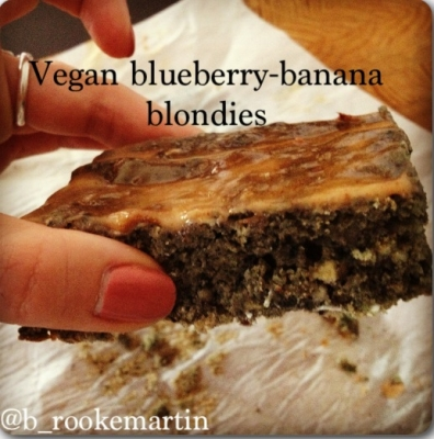 Vegan Blueberry-Banana Blondies