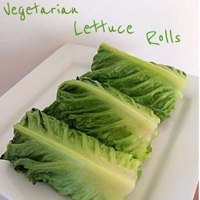 Vegetarian Lettuce Rolls