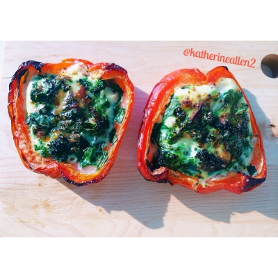 Veggie and Egg White Stuffed Peppers