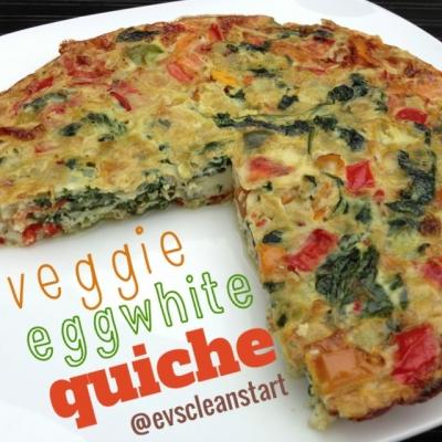 Veggie Eggwhite Quiche