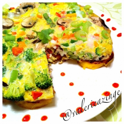 Veggie Loaded Plantain Frittata