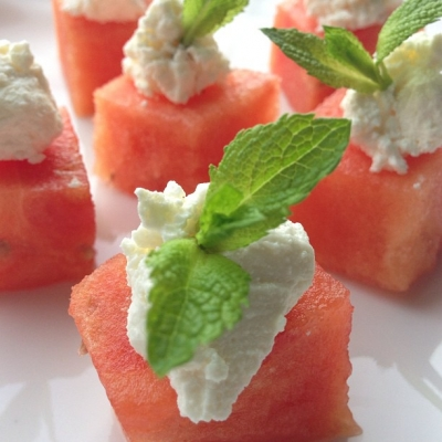 Watermelon and Feta Bites