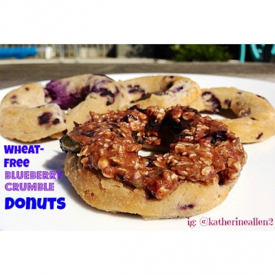 Wheat-Free Blueberry Crumble Donut