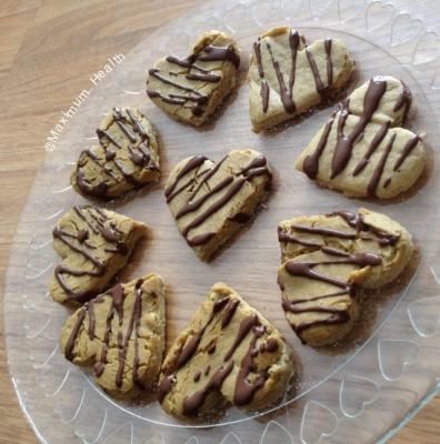 White Chocolate Brownie Hearts