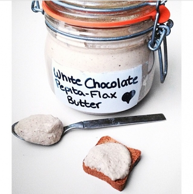 White Chocolate Pepita Flax Butter