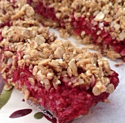 White Chocolate Raspberry Oat Bars