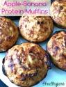 Apple-Banana Protein Muffins