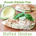 Avocado Artichoke Stuffed Chicken