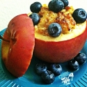Baked Cottage Cheese & Almond Butter Apple