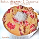 Baked Raspberry and Coconut Protein Oatmeal
