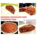 Banana Chocolate Chip Pumpkin Cake