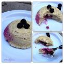 Banana Mugcake With Blackberry Filling