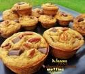 Banana Pecan Chocolate Chunk Muffins