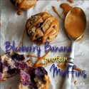 Blueberry Banana Protein Muffins