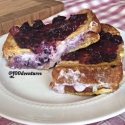 Blueberry Cheesecake Stuffed Protein French Toast