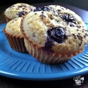 Blueberry Egg White Muffins