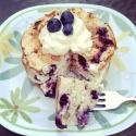 Blueberry-Lemon Protein Pancakes