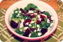 Bright Beet, Fennel and Goat Cheese Greens
