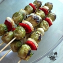 Brussel Sprout Kabobs