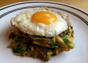 Brussels Sprout and Bacon Hash Browns