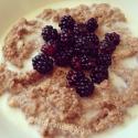 Cacao Blackberry Egg White Oat Bran