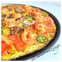 Cajun Shrimp On Zucchini Pizza Crust (Flour Free)