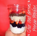 Cake & Berries Protein Parfait