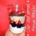 Cake & Berries Protein Parfait