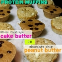 Cake Batter or Peanut Butter Protein Muffins