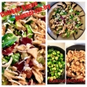 Chicken Bacon Brussel Stir Fry