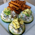 Chicken Salad On Zucchini