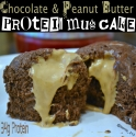 Chocolate & Peanut Butter Protein Mug Cake