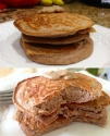 Chocolate Almond Protein Pancakes