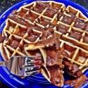 Chocolate Banana Peanut Butter Waffle