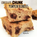 Chocolate Chunk Pumpkin Blondies