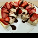 Chocolate Covered Strawberries Protein Cheesecake