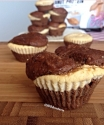 Chocolate Muffins With Peanut Butter Cheesecake Filling