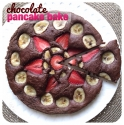 Chocolate Pancake Bake W/ Strawberry & Banana