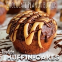 Chocolate Peanut Butter Muffin-Cakes