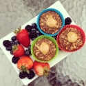 Chocolate Protein Baked Oatmeal Cups