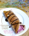 Chocolate Protein Crepes With Berry Ice Cream