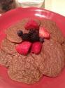 Chocolate Raspberry Oatmeal Protein Cookies.