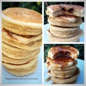 Chocolate Stuffed Protein Pancakes