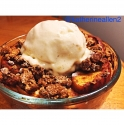 Clean Apple Crisp With Vanilla Bean Banana Ice Cream