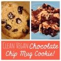 Clean Vegan Chocolate Chip Mug Cookie