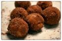 Peanut Butter & Vanilla Protein Balls in Cocoa